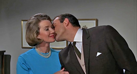 Bond and Moneypenny (RIP Lois Maxwell) in Goldfinger 1964