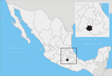 MAP OF MORELOS STATE, MEXICO