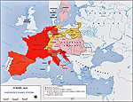 Map of Europe 1810: Napoleon's Power