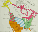 Map of North America 1670-1867: Territorial Possessions