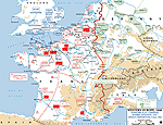Map of Operation Overlord - 1944