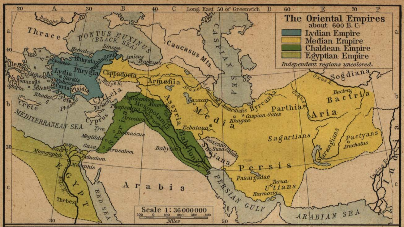 Map of the Oriental Empires 600 BC