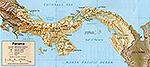 Map of Panama 1995