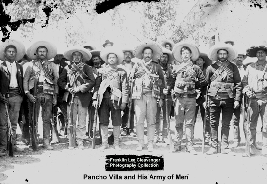 Pancho Villa and his army of men - Franklin Lee Cleavenger Collection