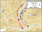Map of the Battle of Ramillies - May 23, 1706: Positioning