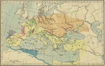 Map of Europe 450 AD