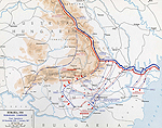Map of WWI: Romanian Campaign - Nov 26, 1916-Jan 7, 1917