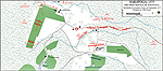 Map of the First Battle of Saratoga at 1300 Hours - September 19, 1777