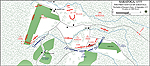 Map of the First Battle of Saratoga at 1500 Hours - September 19, 1777