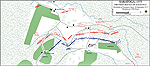 Map of the First Battle of Saratoga at 1700 Hours - September 19, 1777
