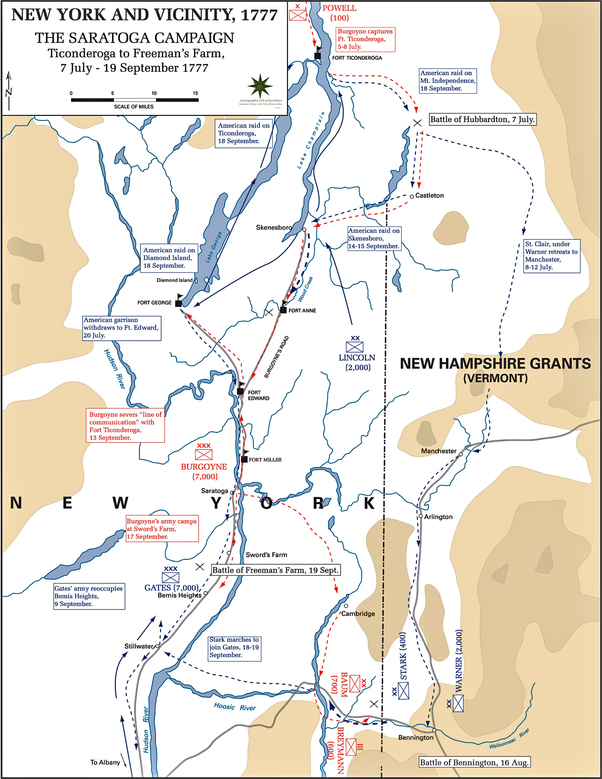 Map of the Saratoga Campaign 1777