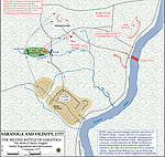Map of the Second Battle of Saratoga: Initial Dispositions - October 7, 1777