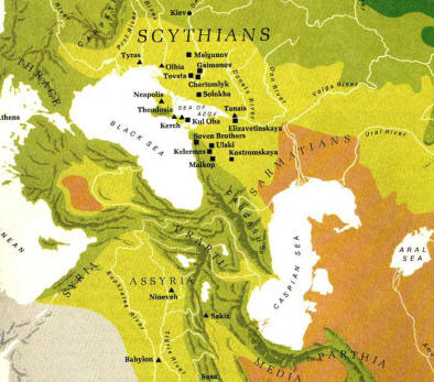 The Scythians - Map - 4th century BC