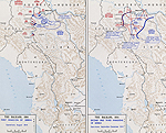 Map of WWI: Serbian Campaign - August-December 1914