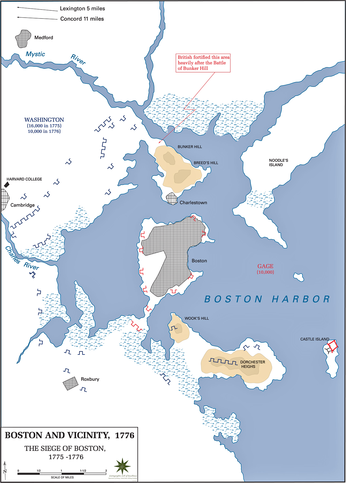 Map of the Siege of Boston 1776