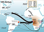1800-1900 World Map Slave Trade