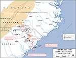 Map of the American Revolution: Operations in the South 1780