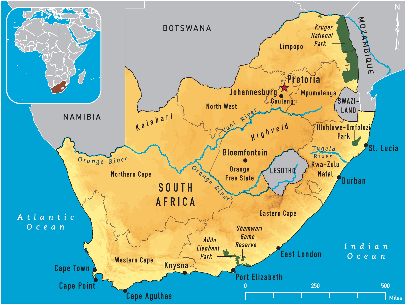 Map of South Africa 2011