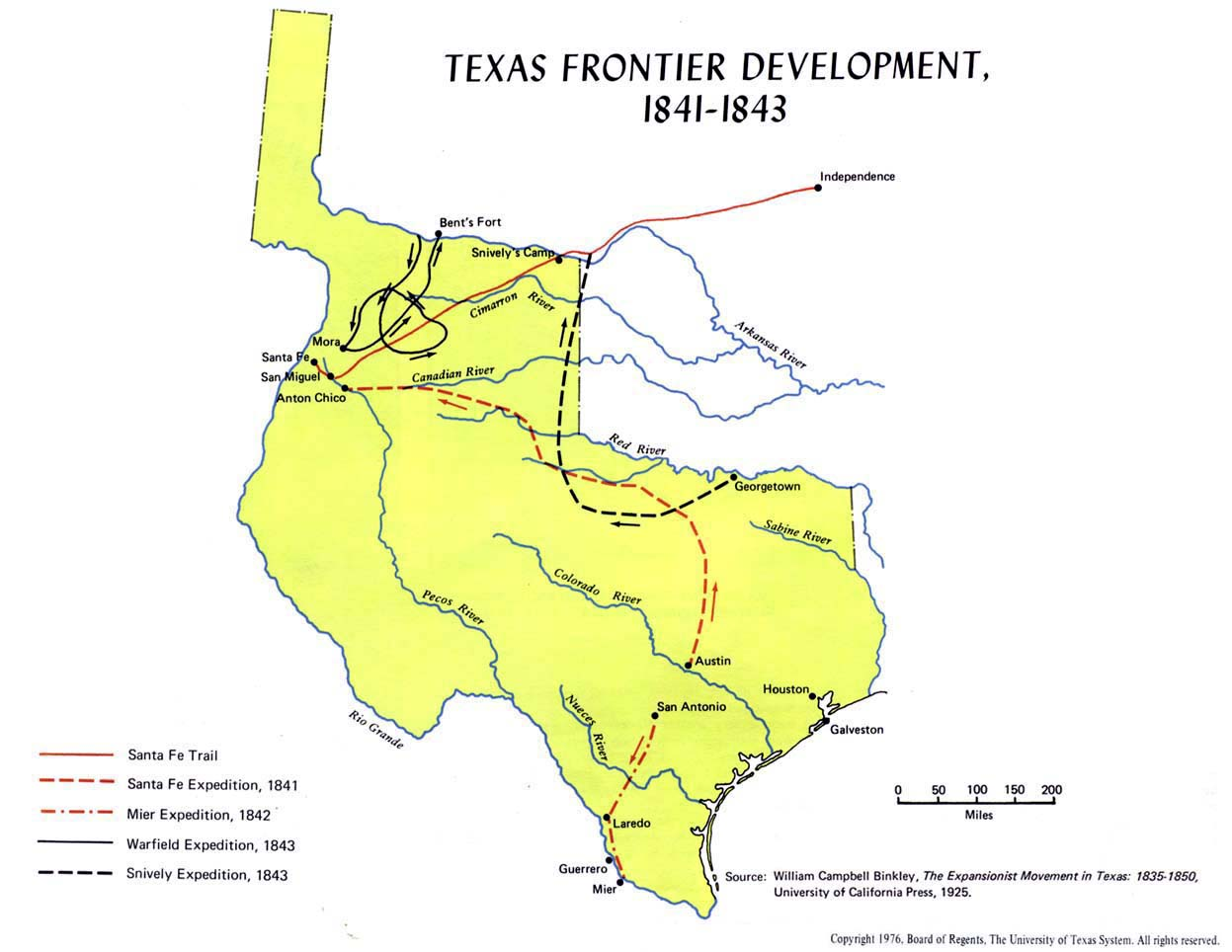 Texas Frontier Development, 1841 - 1843