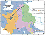 Map of the Treaty of Verdun 843