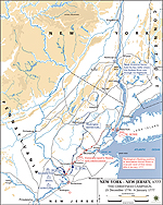 Map of the Battles of Trenton and Princeton 1776-7