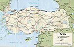Map of Turkey 2006
