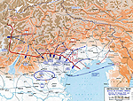 Map of the Battle of Vittorio Veneto - Oct 24-Nov 3, 1918