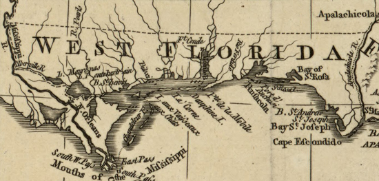 Map of West Florida in 1763