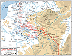 Map of WWI: Western Front Sept 30-Nov 11, 1914
