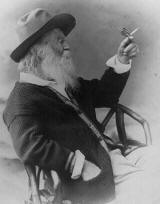 Walt Whitman holding butterfly 1873