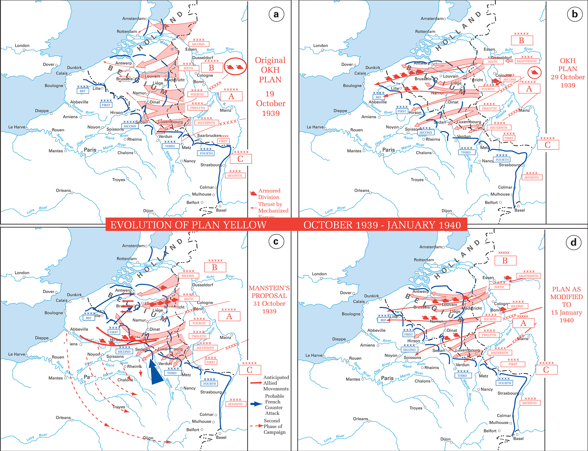 History Map of WWII: The War in the West - October 1939-January 1940