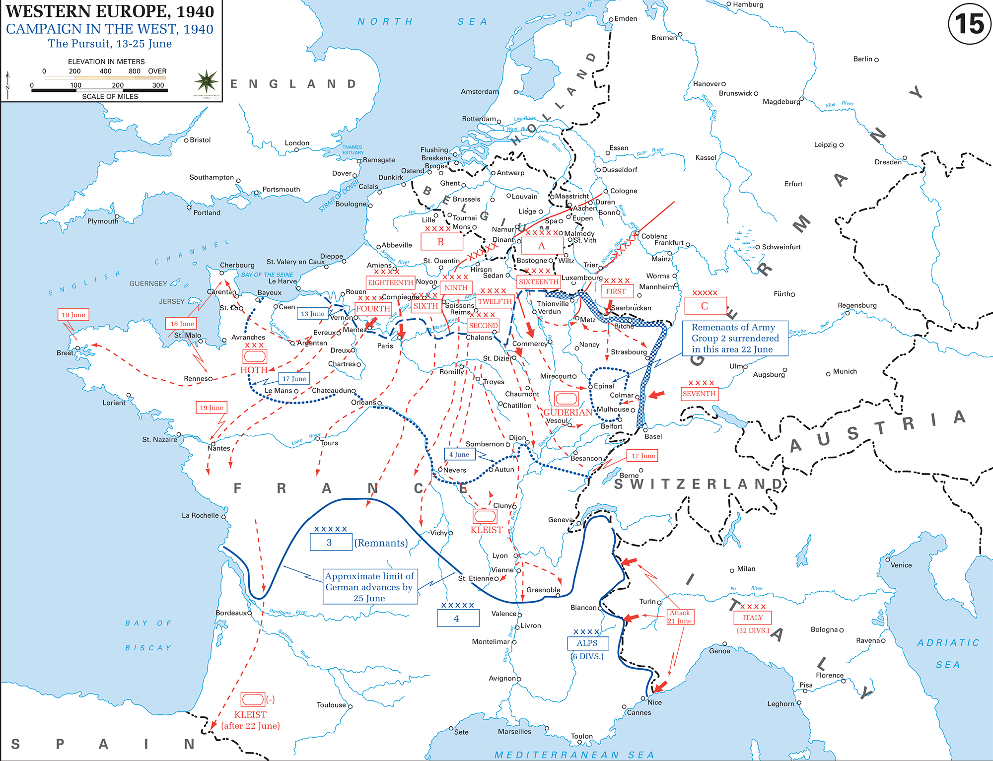 WWII - The War in the West: June 13-25, 1940