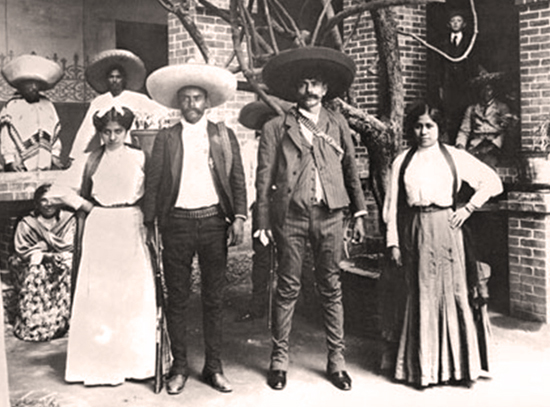 The Zapata brothers and their wives